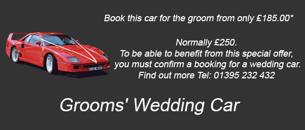 grooms wedding car exeter devon