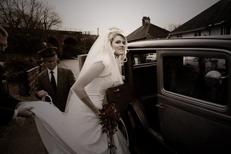 wedding car honiton