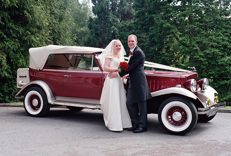 wedding car exeter reed hall